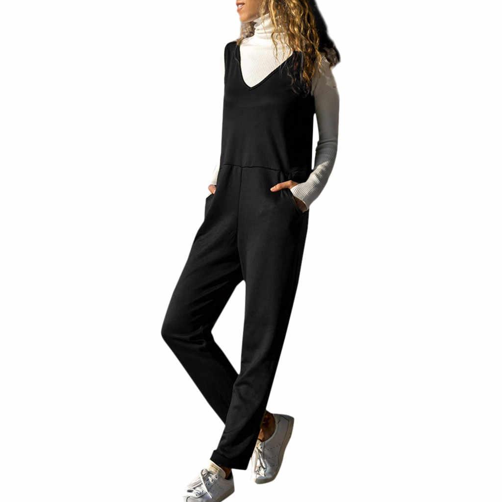 CHAMSGEND женские спагетти ремень широкие ноги Bodycon Комбинезон Брюки Клубные Комбинезоны Плюс Размер Комбинезоны Комбинезон C30123
