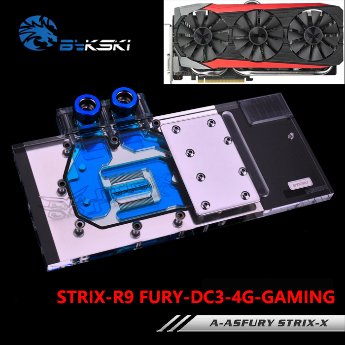 BYKSKI A-ASFURY STRIX-X Full Cover Graphics Card Block use for ASUS STRIX-R9-FURY-DC3-4G-GAMING Video Card Block RGB Controller vg 86m06 006 gpu for acer aspire 6530g notebook pc graphics card ati hd3650 video card