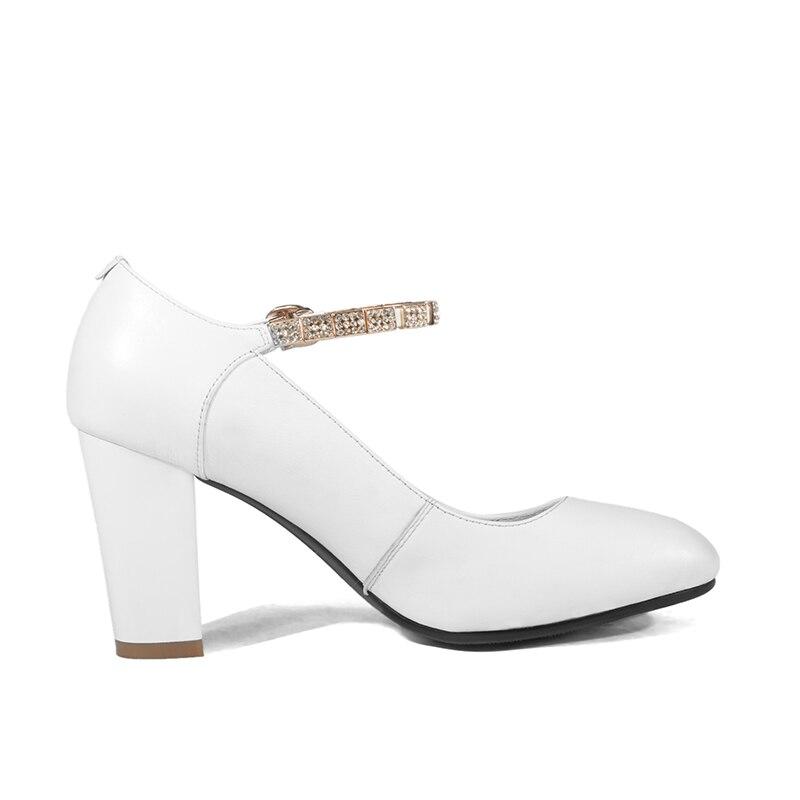 Karinluna Mûr Noir blanc Cuir De Mode Femmes Chaussures 2019 Talons Classiques Véritable En Sexy Ins Flambant Hauts Neuf Style qrqxp1F