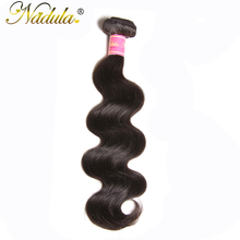 NADULA HAIR 8-30inch Malaysian Body Wave Hair Bundles 100% Human Weaves Remy Hair Natural Color Can be Dyed Hair Extensions(China)