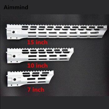 цена на 7 10 12 15 inch Picatinny mlok handguard Rails free Float ar 15 Handguard Quad Rail for AEG M4 M16 AR15 for Hunting Shooting