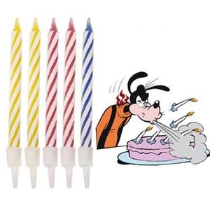 Image 2 - 10 個マジック再点灯キャンドルトリッキー誕生日永遠吹いキャンドルパーティー誕生日ケーキデコレーション