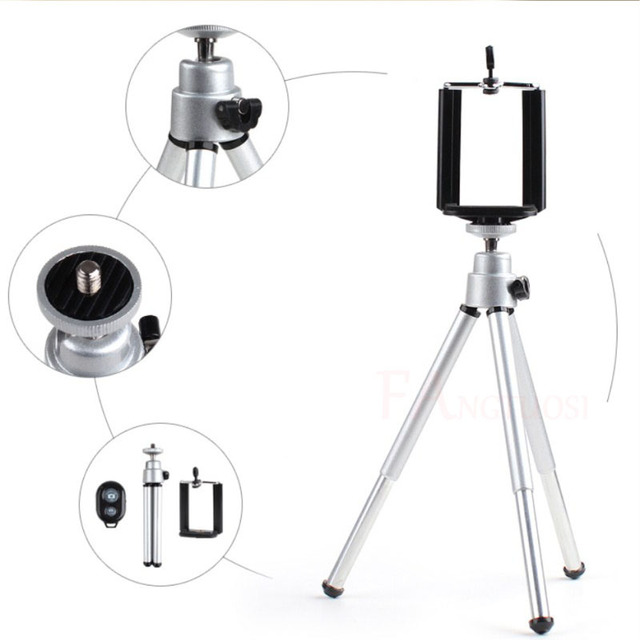 Mini Tripod With Phone Holder Bluetooth Remote For Iphone x 8 7 6s PLUS Tripod for Xiaomi Samsung Phones Portable Mount Monopod