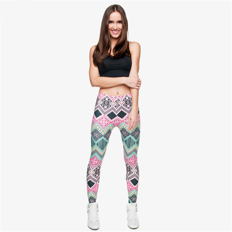 Zohra Brand New Fashion Aztec Printing legins Punk Women's Legging Stretchy Trousers Casual Slim fit Pants Leggings 10