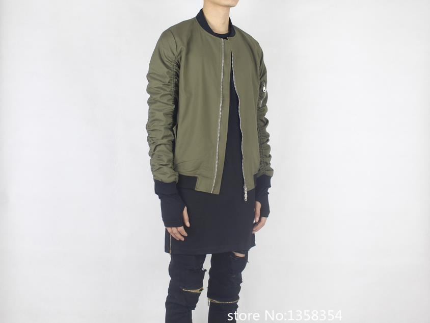 cool bomber jacket men hip hop fashion flight jacket kanye west ...