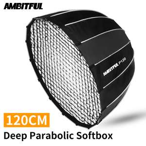 Image 1 - AMBITFUL P120 varillas de Metal portátiles, caja difusora de Flash para estudio, 16 varillas de Metal de 120CM, parabólico + rejilla de nido de abeja, caja difusora de Speedlite