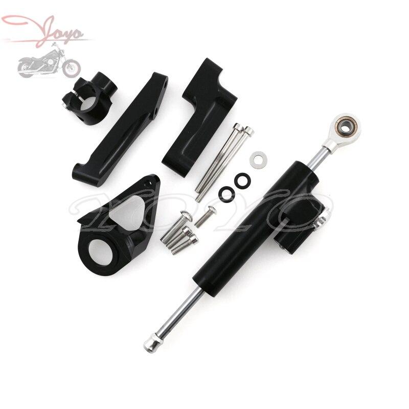 Steering Damper Stabilizer Bracket Mount Kit For Suzuki GSXR1300 GSXR-1300 GSX-R1300 1998- 2013 2014 2015 2016