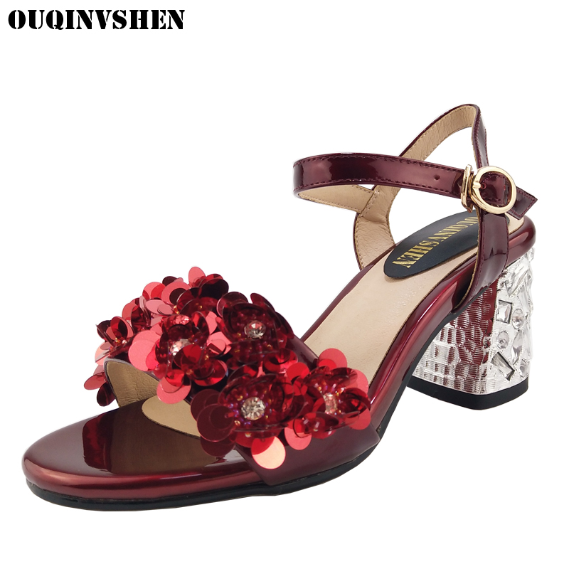 OUQINVSHEN Crystal High heels Women Sandals Open Toed Sandalias Mujer Casual Sandals For Women Brand Shoes Rhinestone Sandals roman style women sandals strappy heels high heeled sandals sexy rhinestone crystal open toed leather pumps sandalias mujer
