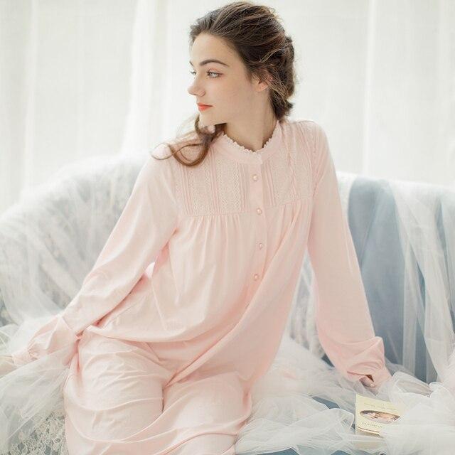 e0ea2722af Long Nightgown Women Cotton Nightgown Sleepwear Women s Sleepwear-in ...