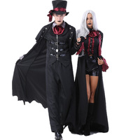 Halloween Costumes Adult Couple Cosplay Vampire Costume masquerade Party stage Show Role playing Devil costume Gothic Clothes