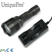 UniqueFire UF-008B Cree Q5 Led Flashlight 3 Modes MiniTorch Lampe Power By 1x 18650 Rechargeable Battery+Charger Free Shipping