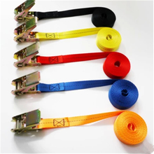 1 Piece 10m Length 2.5cm Weight Car Tension Rope Ratchet Tie Luggage Strap Tied Durable Household Fastening Belt Safe Pull 800kg