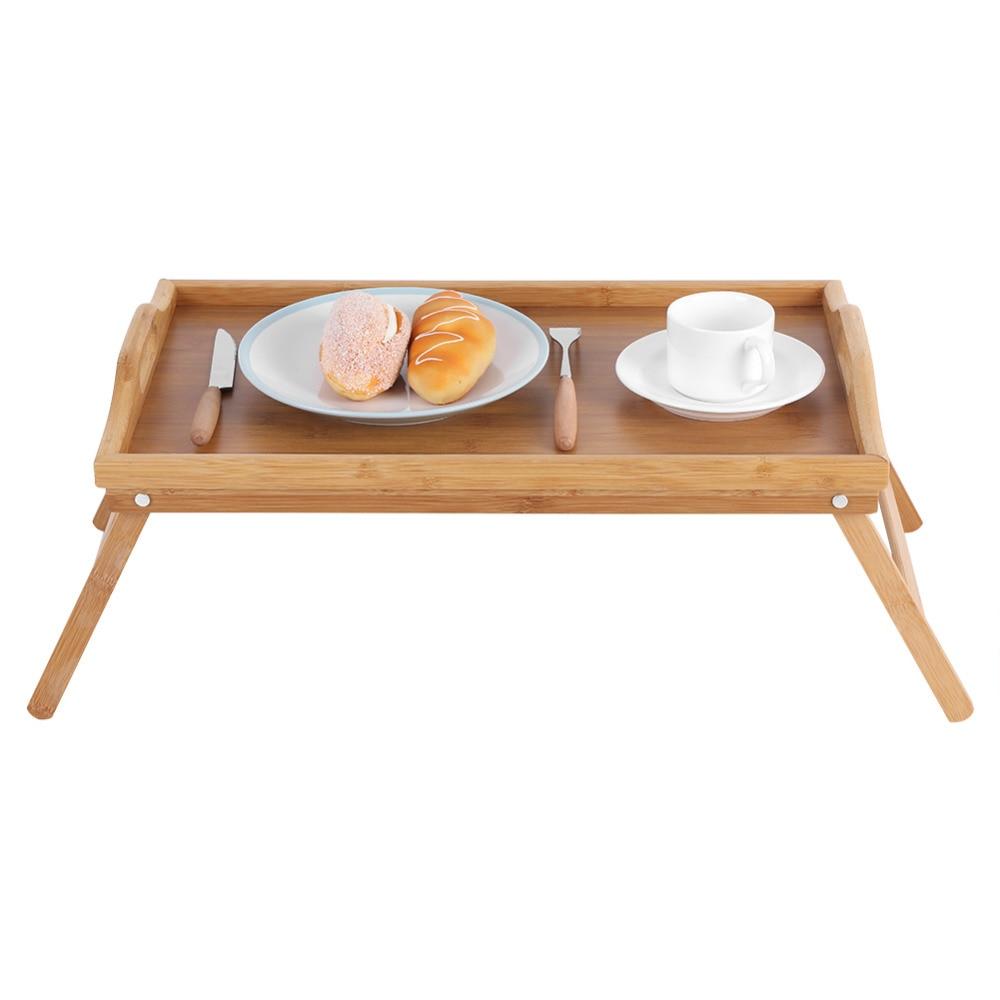 Portable Bamboo Wood Desk