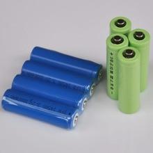 4 pcs LiFePo4 IFR 14500 3.2 v bateria recarregável 1000 mah AA bateria de células de iões de lítio + 4 pcs falso para câmera digital brinquedos