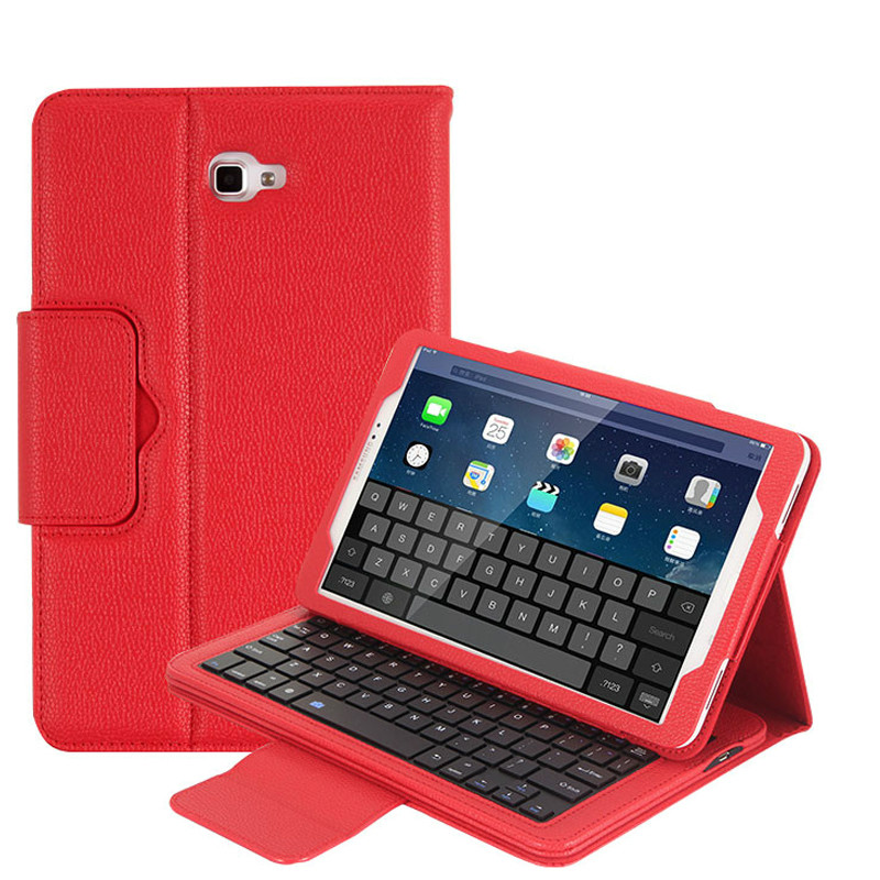 For Samsung Galaxy Tab A A6 10.1 2016 SM T580 T585 Bluetooth Keyboard Case , Magnet Absorb Detachable Cover w/ Kickstand Case new detachable official removable original metal keyboard station stand case cover for samsung ativ smart pc 700t 700t1c xe700t