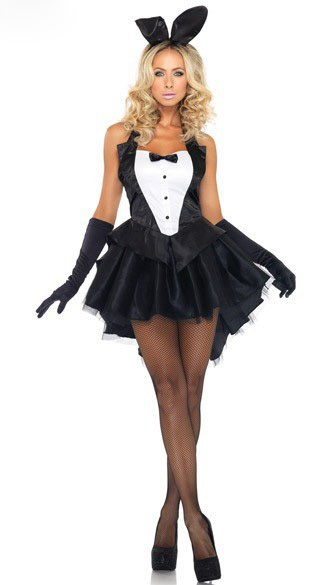 High quality  bunny girl magician Bunny Girl Rabbit Costumes swallow tail costume Halloween Animal Costume Fancy Dress Clubwear