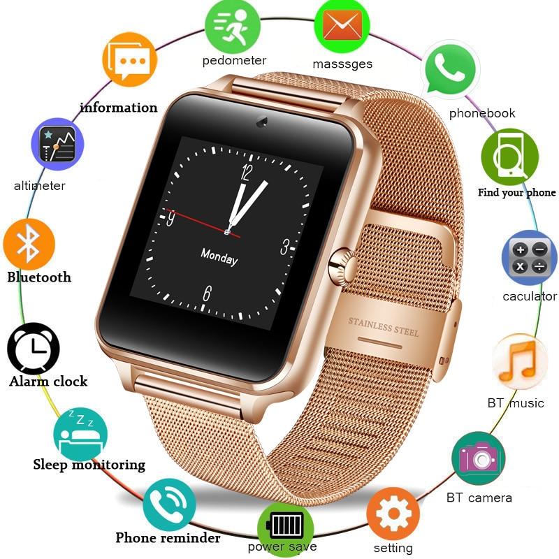 Smart Watch GT08 Clock Sync Notifier Toetus SIM-kaardile Bluetooth-ühenduvus IOS Android'i jaoks Naised Smartwatch Mehed Vaata Z60 2019