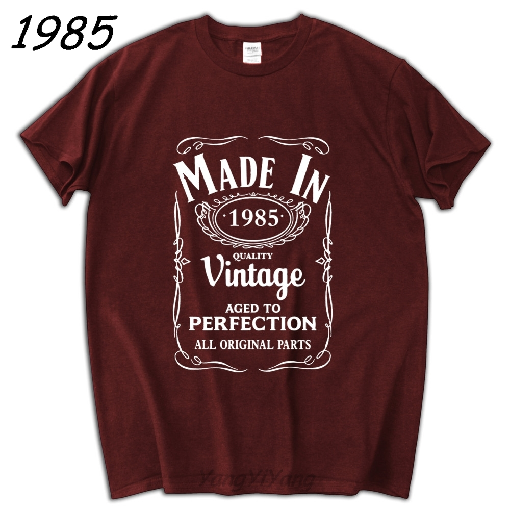 Made In 1985 T Shirt Born 32th Year Birthday Age Present Vintage