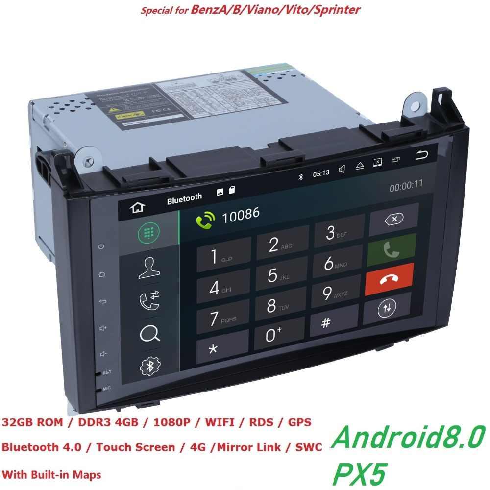 2din без DVD gps головное устройство 4 грамма 4G WI-FI для Mercedes Benz B200 A B класс W169 W245 Viano Vito W639 Sprinter W906 Bluetooth радио