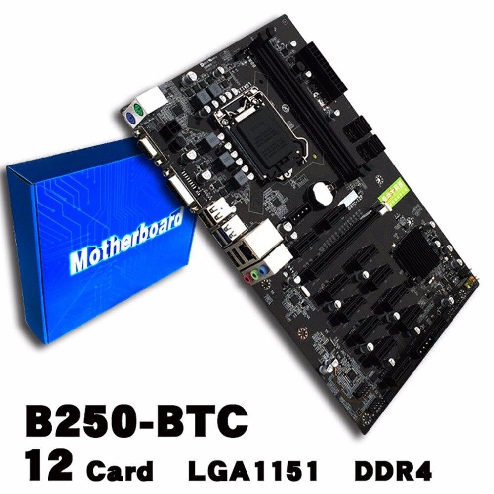 Добыча доска B250 добыча материнская плата видеокарта Интерфейс поддерживает GTX 1050TI 1060ti предназначен для crypto добыча Bitcoin BTC