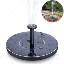 Garden Solar Fountain Pond Pump with 1.4W Mono-crystalline Solar Panel Water Pump Solar Floating Fountain Pump for Garden