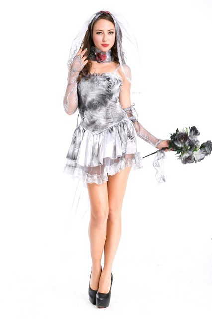 2017 hell ghost bride halloween costumes for women vimpire queen dress sexy halloween costume party role