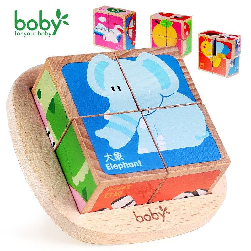 Боби 3D деревянные головоломки Инструменты 6 сбоку здание головоломки ребенка раннего образования Игрушечные лошадки для детей Обувь для де...