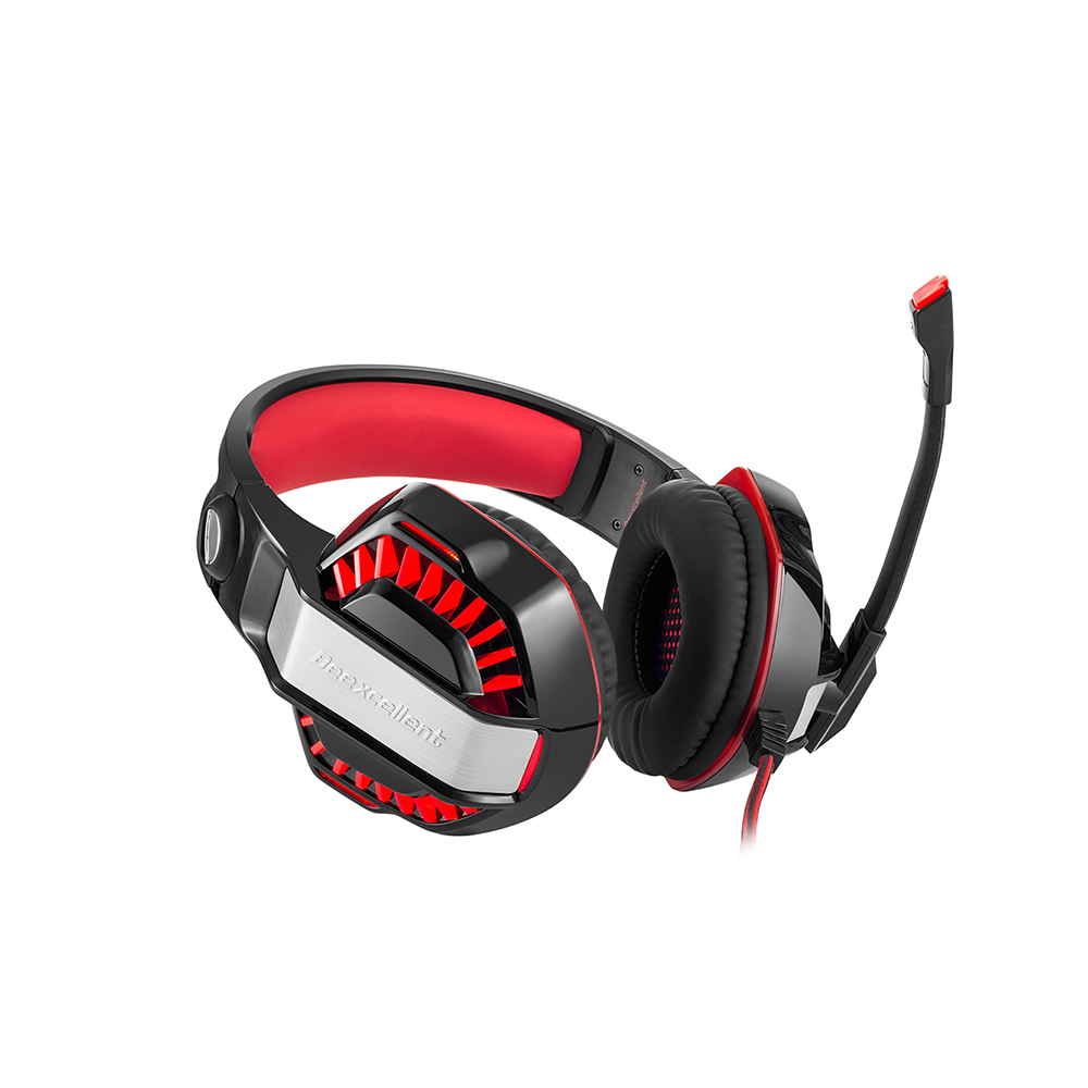 Beexcellent GM-2 Gaming Headset Super Bass Stereo Headphone w Mic LED Light 3.5mm USB Wired Headphones for PS4 Laptop Computer