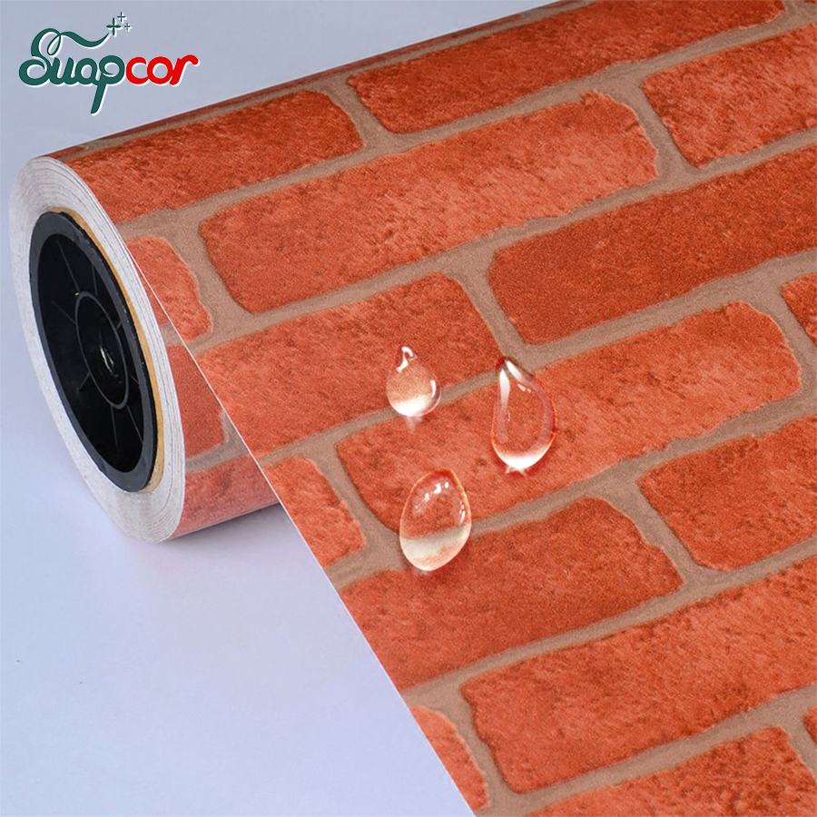 0.6*5m Brick wall art decals waterproof vinyl pvc Wall Stickers for Kitchen Bathroom Self adhesive Wallpaper DIY home decor