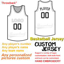 3314d73ad Throwback Any number men s women youth basketball jersey picture Custom