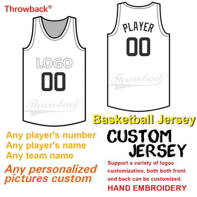 58a7ce6b9 Throwback basketball Jerseys Customized Any name Any number men s women  youth basketball jersey Custom picture Custom Jersey