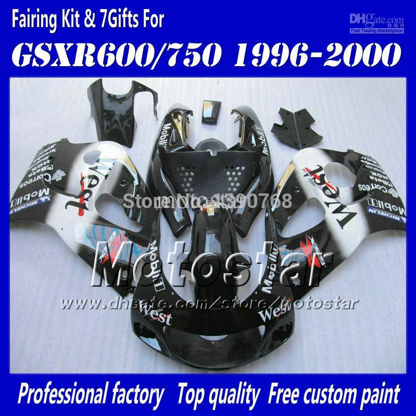 Motocycle fairings for 1996 1997 1998 1999 2000 suzuki gsxr600 srad fairing gsxr750 gsxr 600 750 96 9
