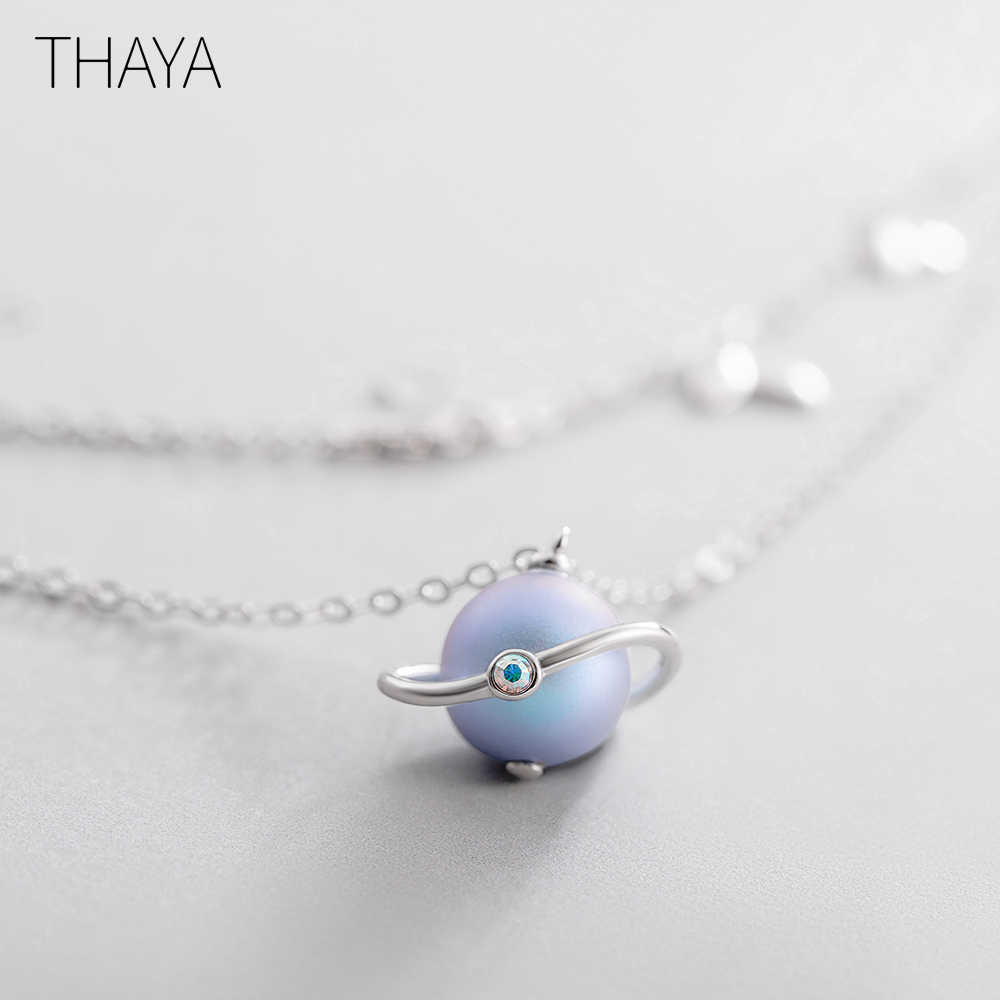 Thaya Midsummer Night's Dream Design Necklace Colored Pearls s925 Silver Choker For Women Elegant Jewelry Ladies Gift