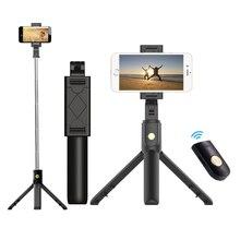 3 in 1 ไร้สายบลูทูธโทรศัพท์ถือ MINI Selfie ขาตั้งกล้องรีโมทคอนโทรลสำหรับ iPhone X 8 7 6s plus แบบพกพา Monopod