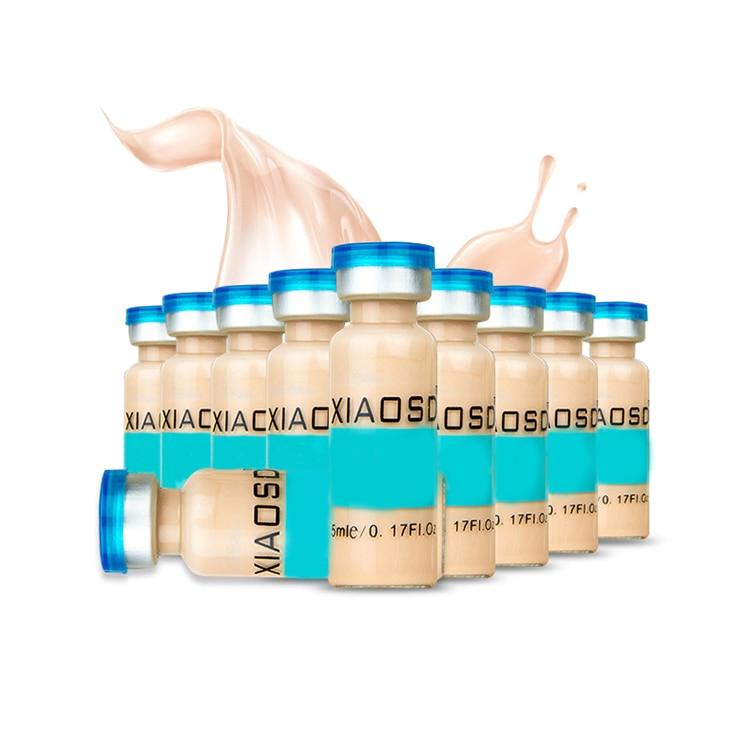 10pcs/set 5ml Korean Makeup Skin Cream Meso White Brightening Serum Natural Skin Whiteing Concealer Make Up Foundation