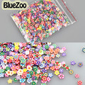 BlueZoo Nova 1000 pcs Flor Multi Estilo 3D Nail Art Stickers Slice Fimo Polymer Clay Slice Nail Art Decoração Etiqueta