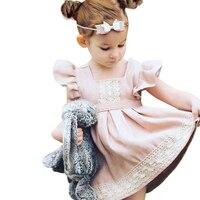 Nowe Letnie Dziecko Dziewczyna Floral Lace Princess Tutu Dress Chrzciny Suknia Ślubna Sukienka Dla 1-6Yrs Dziewczyny Noszą Wakacje W Stylu Ubrania
