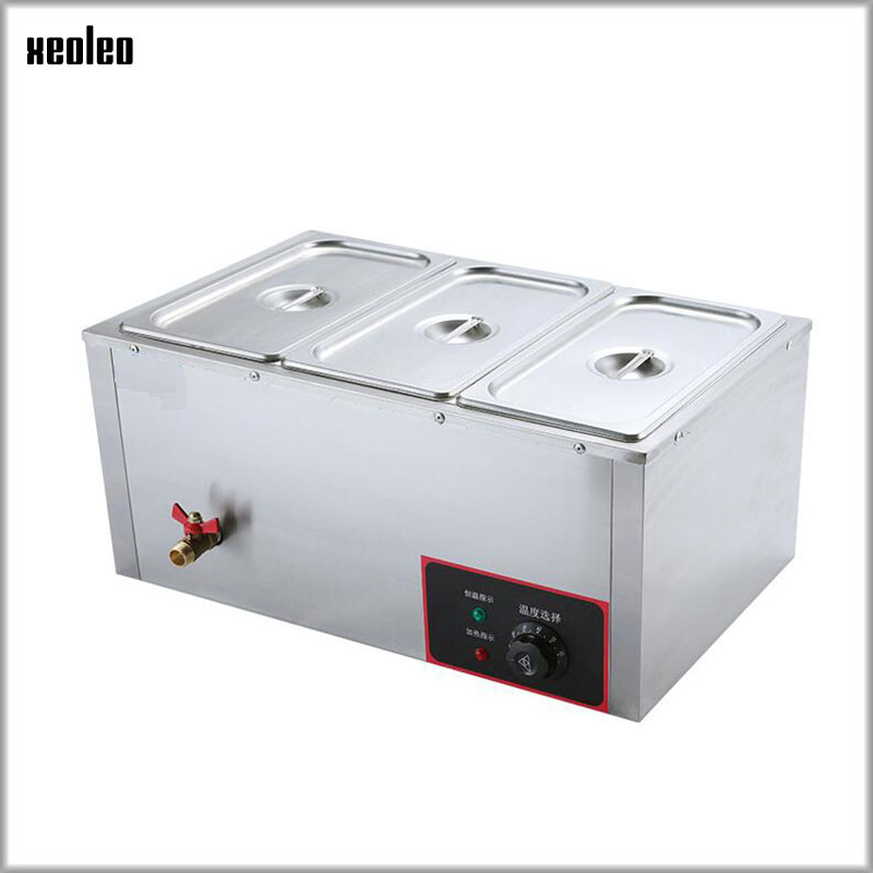 XEOLEO Heat Preservation Furnace Electric Warm Soup Stove Commercial Heating three pot soup pool furnace 30~85degree 220V 850W