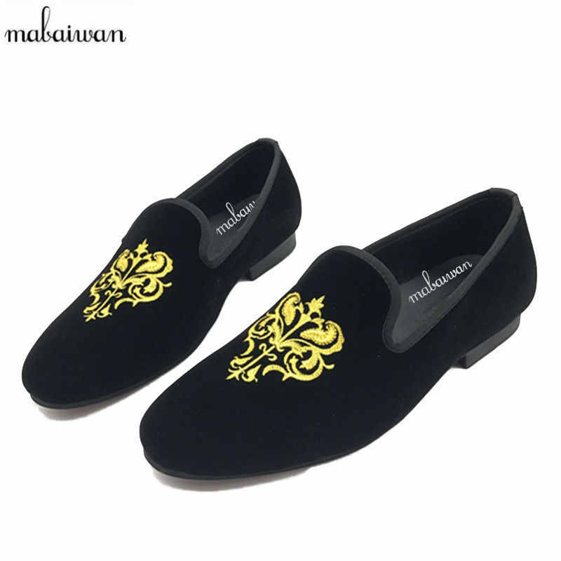 New Black Embroidery Loafers Men Luxury Velvet Smoking Slippers British Mens Casual Boat Shoes Slip On Flat Shoes Espadrilles корм дл собак arden grange гненок рис сух 6кг