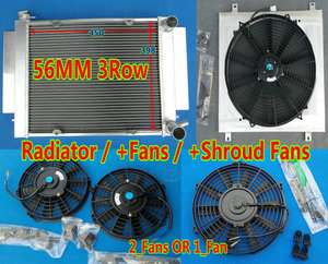 Aluminium Race Radiator Shroud Fan For Mazda RX2 RX3 RX4 RX5 S1 S2 Savanna RX-7 RX7 SA/FB SA22C With Heater pipe MT(China)
