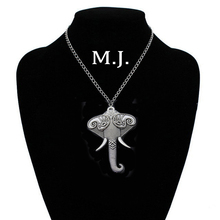 Original Vintage Silver Elephant Necklaces Pendants For Men Retro Chain Big Pendant Necklace Women Jewelry Gift stunning rhinestoned elephant pendant necklace for women