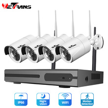 Wetrans CCTV Camera System Wireless Home Security IP Camera Wifi NVR Kit Video Surveillance 1080P HDD Waterproof Night Vision