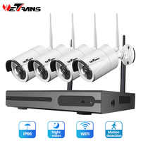 Wetrans CCTV カメラシステムワイヤレスホームセキュリティ IP カメラ Nvr キットビデオ監視 1080 1080P HDD 防水ナイトビジョン