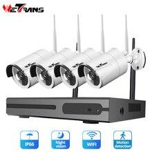 Камера видеонаблюдения Wetrans, беспроводная домашняя камера безопасности, IP, Wifi, NVR, 1080P, HDD, водонепроницаемая, с ночным видением