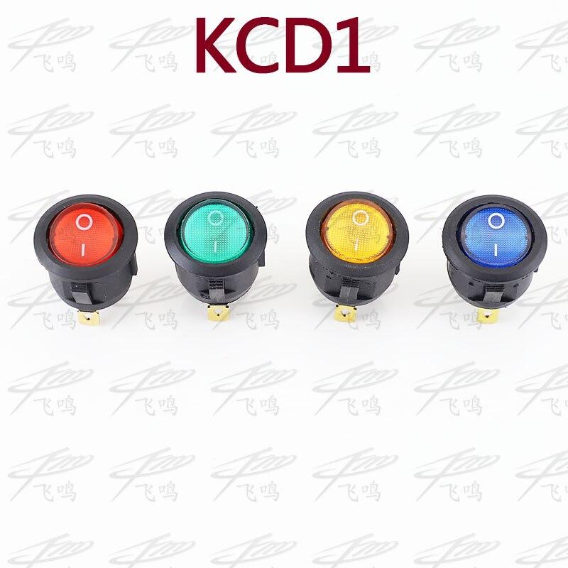 4Pcs Car 220V Round Rocker Dot Boat LED Light Toggle Switch SPST ON/OFF Top Sales Electric Controls