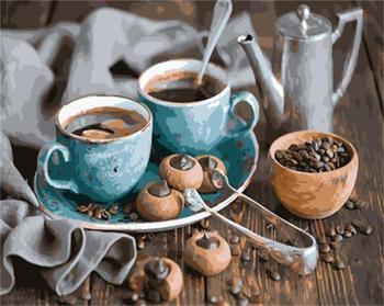 DRAWJOY enmarcado cuadro DIY pintura por números pintura al óleo de café pintura y caligrafía decoración bodegón