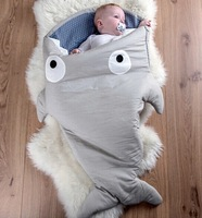 Cute Cartoon Shark Baby Stroller Sleeping Bags Winter Baby Sleep Sack Warm Baby Blanket Warm Swaddle
