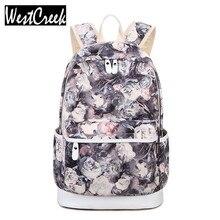 Winner Brand Unique Printing Backpack Women Floral Bookbags Waterproof Canvas Backpack Schoolbag for Girls Rucksack Casual