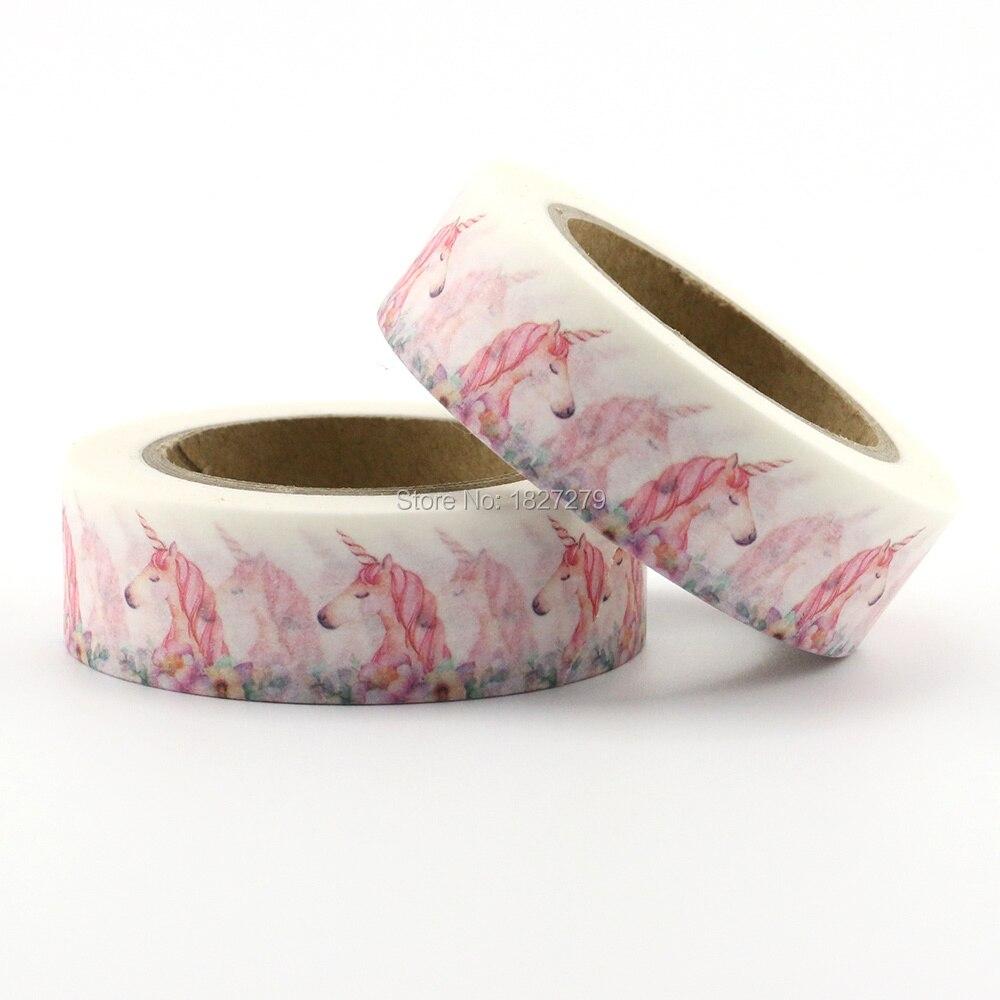 1PC Unicorn Series Washi Tape Adhesive Tape Masking Tape DIY Decorative Supplies