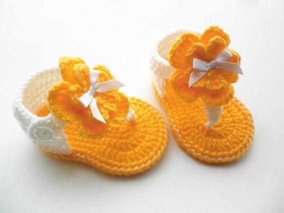 Free Shippingcrochet Baby Sandalshandmade Crochet Gladiator